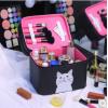 小猫双层化妆箱旅行洗漱包专业化妆包便携防水收纳包户外必备用品